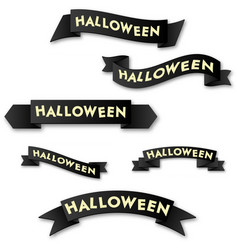 Halloween horizontal banner with logo on a black vector