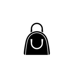 handbag flat icon vector image