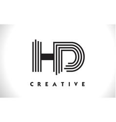 Hd logo letter with black lines design line letter vector