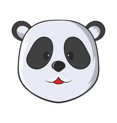 Head of panda bear icon cartoon style vector image