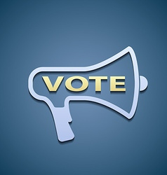 Icon megaphone vote vector