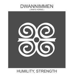 Icon with african adinkra symbol dwannimmen vector
