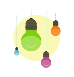 Idea Concept Background Glowing Light Bulb vector