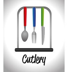 Kitchen design vector image