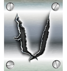 letter cut out in metal vector image