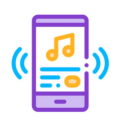 Listening music song in smartphone icon vector