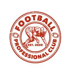 Logo design football professional est 2020 vector