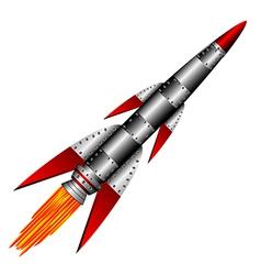 military rocket vector image
