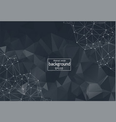monochrome geometric abstract molecule background vector image