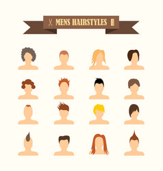 Multicolored icons with tape on topic men39s vector