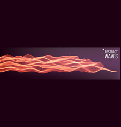 music waves abstract sound background vector image