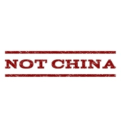 Not china watermark stamp vector