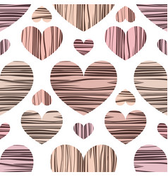 pastel colore hearts with stripes vector image