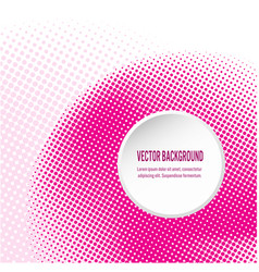 pink background with circular halftone dots vector image