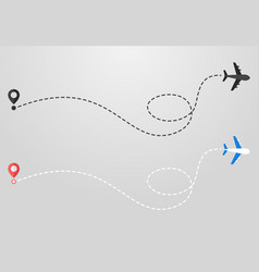 plane and track icon on a white background vector image