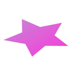 purple star icon isometric style vector image