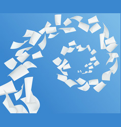 Realistic paper blue background vector