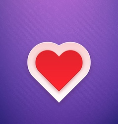 Red Heart on Purple Background vector image