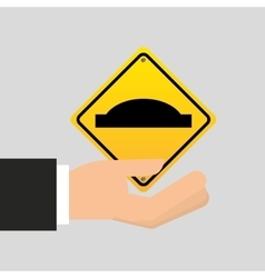 road sign uneven icon design vector image