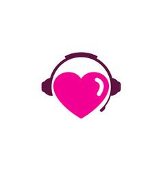 Romance podcast logo icon design vector