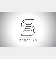 s letter monogram logo design modern s icon with vector image