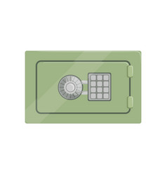 Safe steel box with a keypad buttons panel safety vector