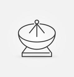 Satellite antenna linear concept icon vector