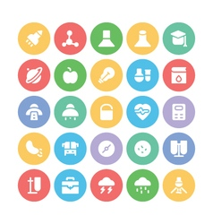 Science Colored Icons 10 vector