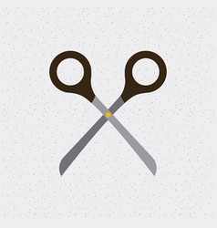 Scissor tool isolated icon vector