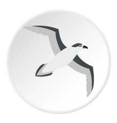 Seagull icon flat style vector