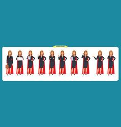 set of super businesswoman character design vector image