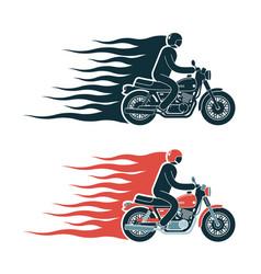 Simple biker pictograph emblem vector