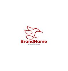 simple colibri logo design vector image