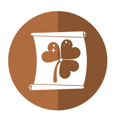St patricks day clover paper shadow vector