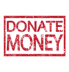 stamp text donate money vector image