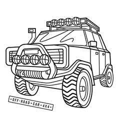 Stock off road car vector