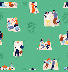 Summer outdoor recreation background picnic vector