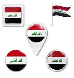Syrian flag in wind vector