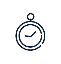 time stopwatch clock linear design vector image