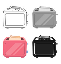 Toaster icon in cartoon style isolated on white vector