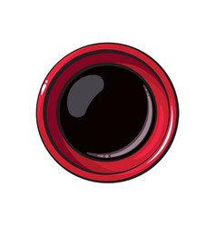 Top view drawing of soy sauce bowl chinese vector