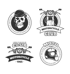 Vintage motorcycle or motorbike club vector