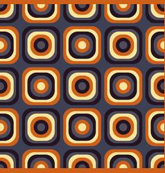 Vintage seventies seamless pattern vector