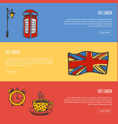 visit london touristic web banners vector image