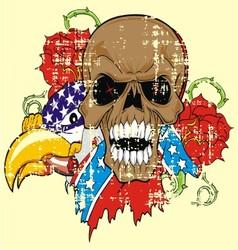 VS 5floral skull vector