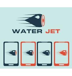 Water jet vector