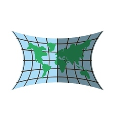 World map location position shadow vector