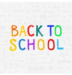 BACK TO SCHOOL seamless doodle pattern vector image