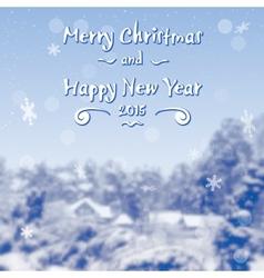 Blue Winter Village Background vector image vector image