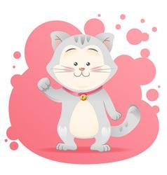 Cute cartoon cat toy card vector image vector image